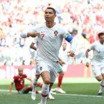 Cristiano Ronaldo marcó el tanto de la victoria portuguesa ante Marruecos, situándose como máximo goleador del Mundial con cuatro goles en dos partidos.