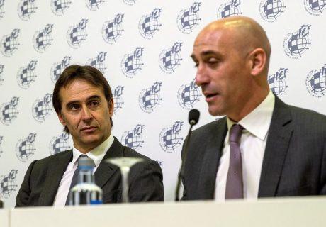 Luís Rubiales cesó a Julen Lopetegui como seleccionador nacional a menos de dos días del debut ante Portugal. Fernando Hierro será l nuevo seleccionador.
