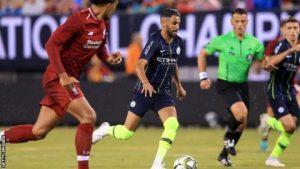 Riyad Mahrez fue uno de los referentes skyblue ante el Liverpool dadas las ausencias de muchos internacionales en el equipo de Guardiola.