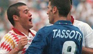 Hace exatcamente 24 años, Mauro Tassotti le rompía la nariz a Luís Enrique en la última jugada de un Italia-España en cuartos de final del Mundial de Estados Unidos.