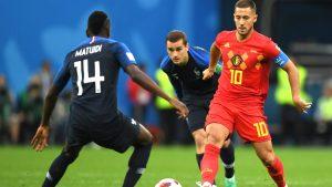 Eden Hazard fue el mejor jugador belga pero su gran actuación no bastó para evitar la derrota de su equipo ante Francia.