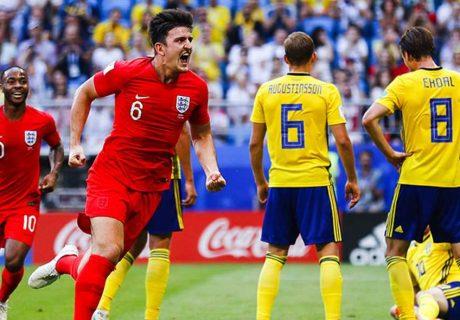 Harry Maguire abrió el marcador ante Suecia, marcando en una jugada a balón parado. El central del Leicester fue uno de los mejores del partido.