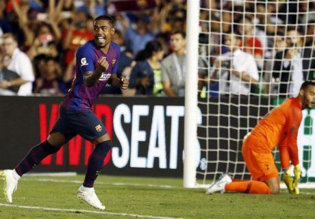 El debutante Malcom marcó el penalti definitivo en la tanda de penas máximas que le dio la victoria al FC Barcelona ante el Tottenham.