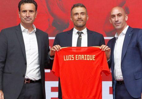 Luís Rubiales presentó a Luís Enrique  como nuevo seleccionador esta mañana.
