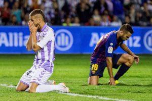 Keko Gontan tuvo un papel destacado saliendo desde el banquillo para el Real Valladolid. Su gol fue anulado por fuera de juego por el VAR.