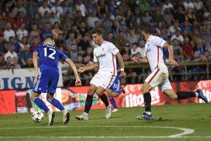 El portugués André Silva volvió a brillar en el partido ante el Sigma, dando el pase de gol a Sarabia.