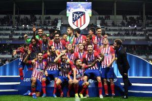 El Atlético de Madrid ganó en Tallin su tercera Supercopa de Europa y lo hizo derrotando a su gran rival en la prórroga.