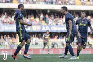 La Juventus se adelantó muy pronto en el marcador, con tanto de Sami Khedira.