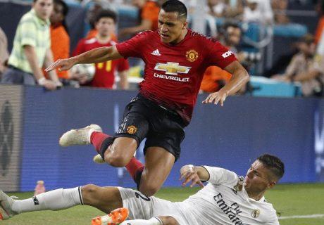 El chileno Alexis Sánchez fue al autor de uno de los dos goles de los Diablos Rojs ante el Real Madrid.
