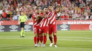 Borja García adelantó al Girona con un tanto tras fallo en cadena de la defensa blanca.