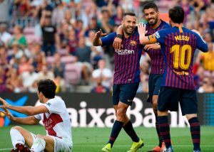 Tras caerse de la primera convocatoria de Luís Enrique con la Selección Española, Jordi Alba brilló ante la SD Huesca.