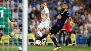Benzema sigue en racha, marcando un doblete en la victoria por 4-1 ante el CD Leganés.