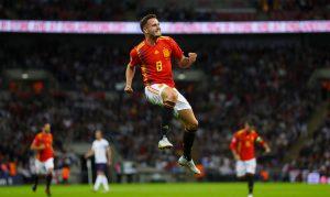 Saúl Ñíguez dejó en evidencia a Fernando Hierro, que no le dio ni un minuto en Rusia, siendo de los más destacados en el triunfo en Wembley.